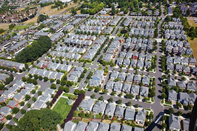 Luftaufnahme der Häuser — Stockfoto