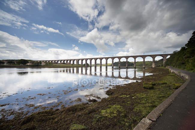 Bridge Going Across The Water; — Stock Photo