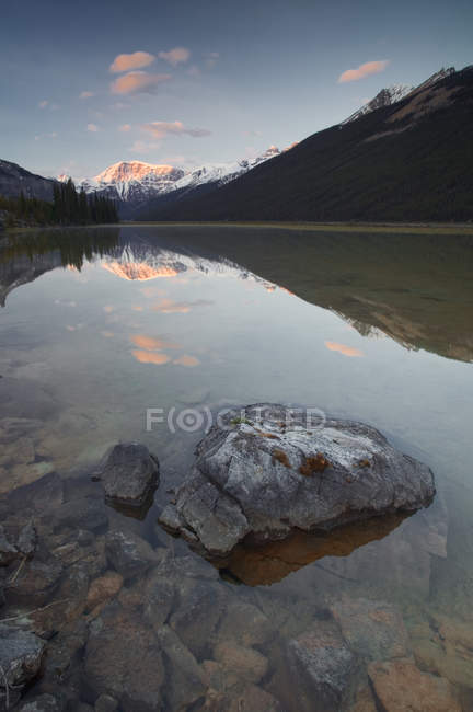 Mount Kitchener Reflected In Pond — Stock Photo