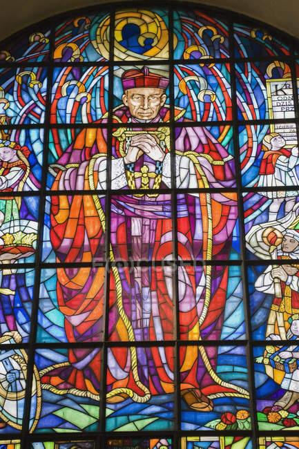 Vitral no interior da Basílica — Fotografia de Stock