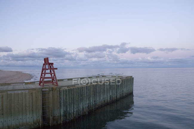 Pier and Lifeguard Near Basin Head — стоковое фото