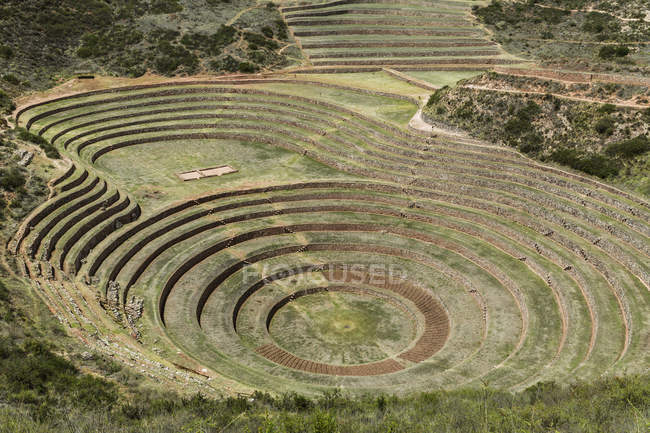 Circular terraces of Moray — Stock Photo