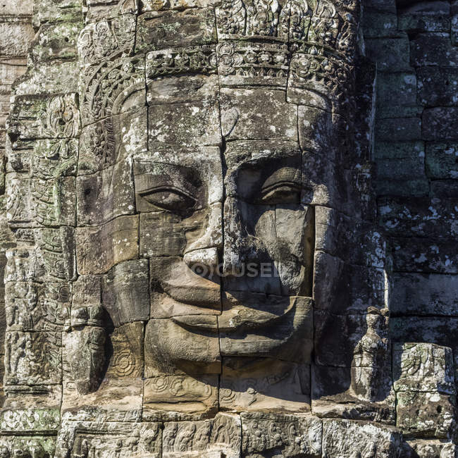 Buddhist statue at Bayon Temple — Stock Photo