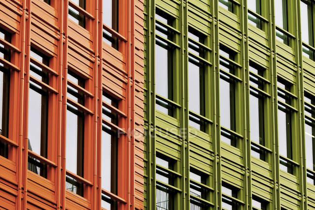 Барвистий фасадів — стокове фото