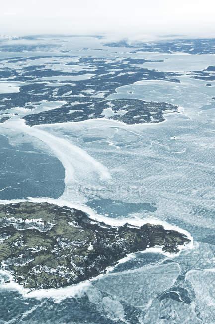 Luftaufnahme des gefrorenen Wassers — Stockfoto