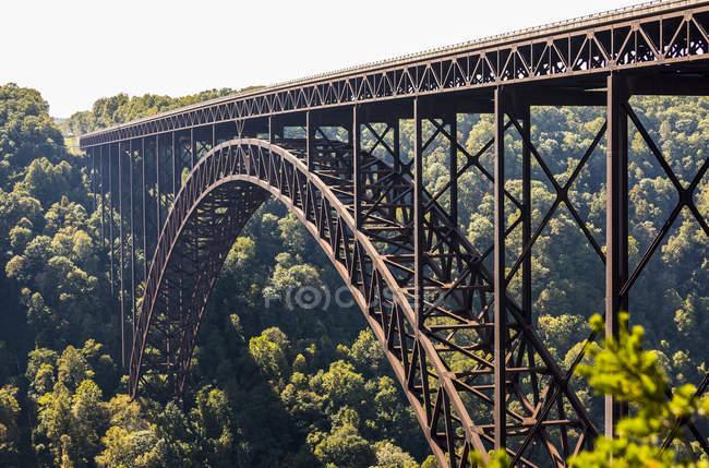 Новий міст ущелини річки — стокове фото