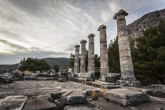 Руїни святилище Афіни — стокове фото