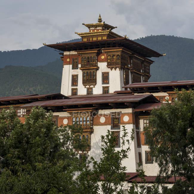 Punakha Dzong; Punakha, Bhutan — Stockfoto