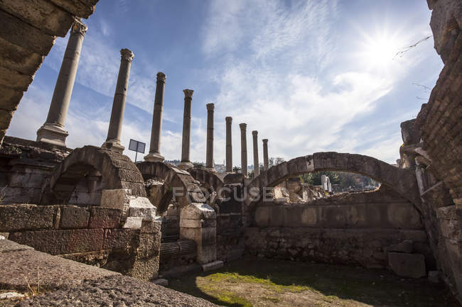 Сайт стародавні руїни — стокове фото