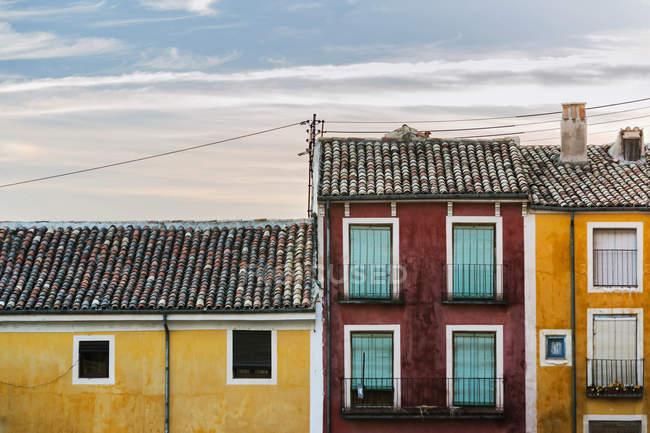Colourful houses in downtown — Stock Photo