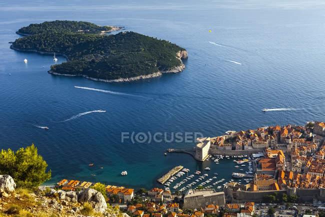 Porto e tetti di Dubrovnik — Foto stock