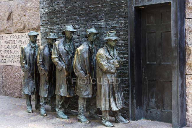 Franklin delano memoriale del roosevelt — Foto stock