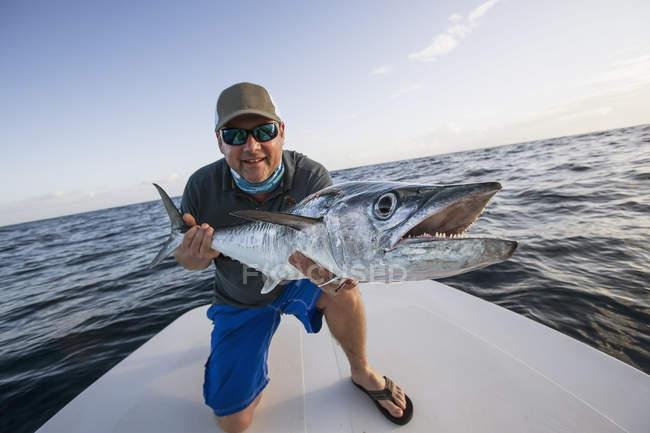 Pêche du maquereau roi; Porto Rico — Photo de stock