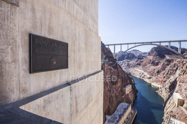 The construction of the Hoover Dam — Stock Photo