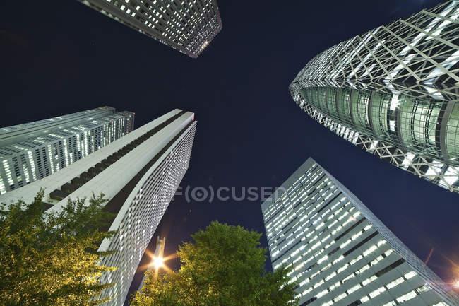 Wolkenkratzer und Bürogebäude — Stockfoto
