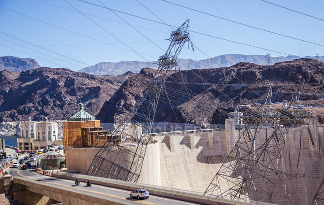 Construction of the electric power lines — Stock Photo