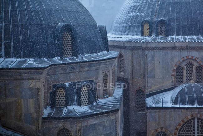 Hagia Sophia sous la neige — Photo de stock