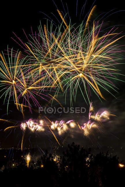Farbenfrohes Feuerwerk — Stockfoto
