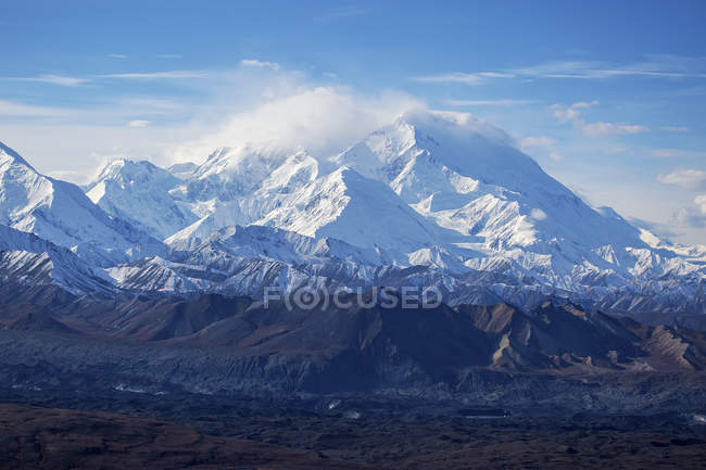 Denali as seen from Thorofare Ridge — Stock Photo