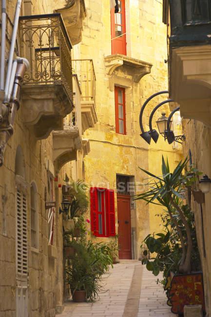 Porte e persiane colorate — Foto stock