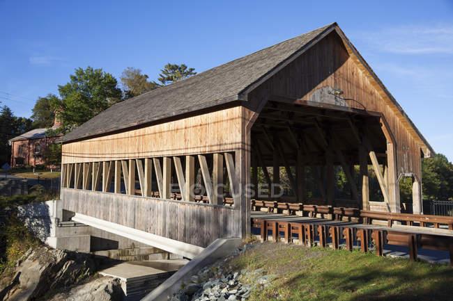 Covered bridge, Quechee — Stock Photo