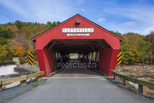 Taftsville Bridge outdoors — Stock Photo