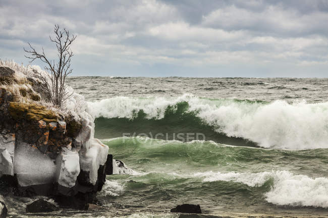 Waves of Lake Superior — Stock Photo
