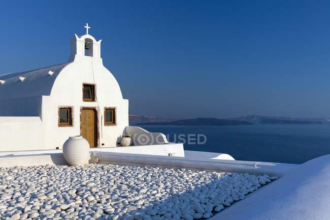 Church; Fira, Santorini, Greece — Stock Photo