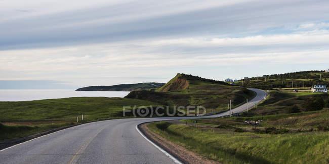 Route le long de la côte Atlantique — Photo de stock