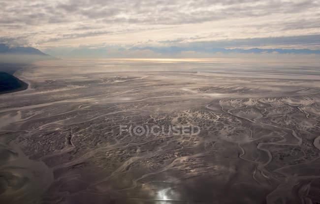 Пташиного польоту приливних квартири — стокове фото