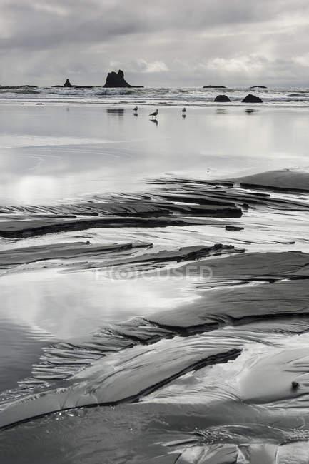 Strand Sand Formationen — Stockfoto