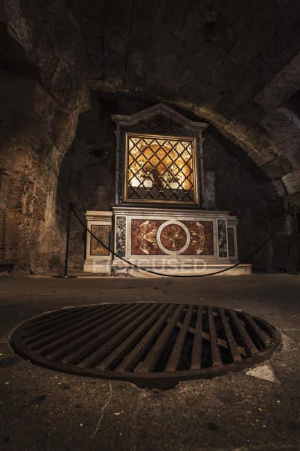 Inside the Mamertine Prison — Stock Photo
