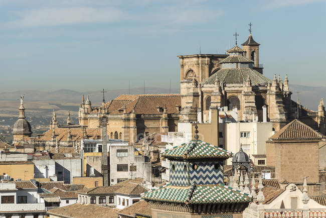 Hermosa vista de la Catedral de Granada - foto de stock