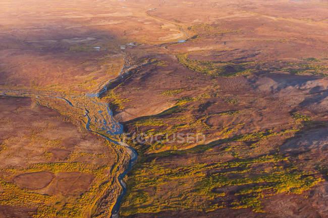 Vue aérienne de la rivière — Photo de stock
