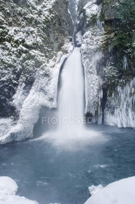 Wahclella Falls, Columbia River Gorge — Stock Photo