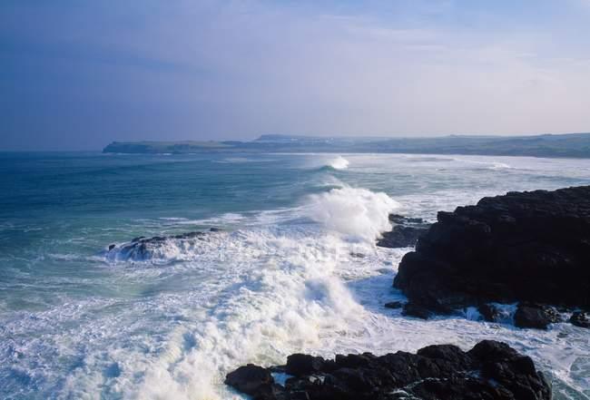 Vue mer orageuse — Photo de stock