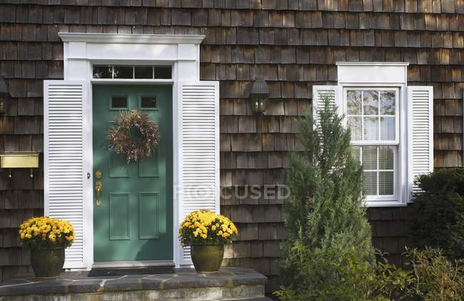 Residential Home with flowers — Stock Photo