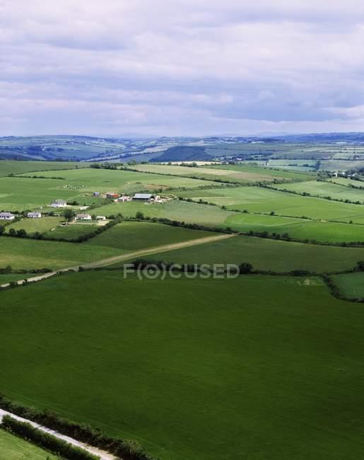 Vista da planície verde — Fotografia de Stock