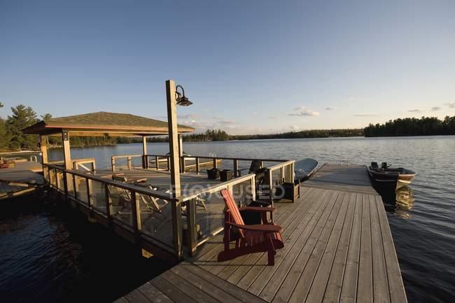 Bacino, lago dei boschi, ontario, canada — Foto stock