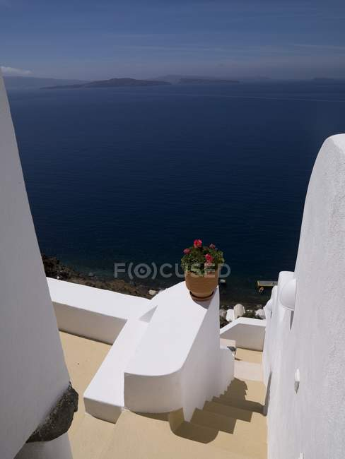 Architecture With View, Santorini — Stock Photo