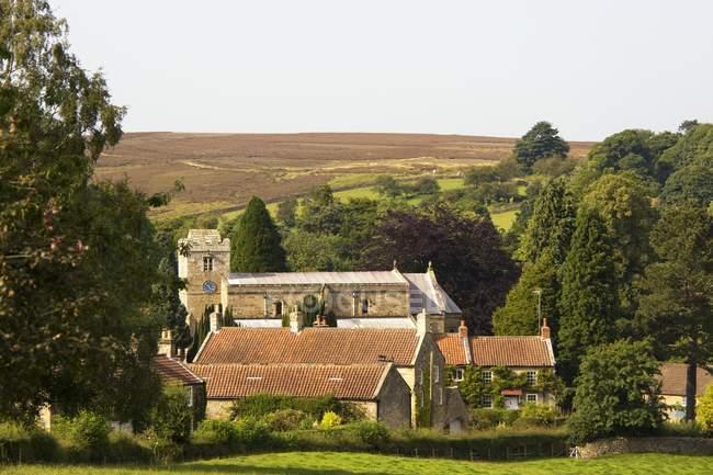 Деревня в графстве Йоркшир — стоковое фото