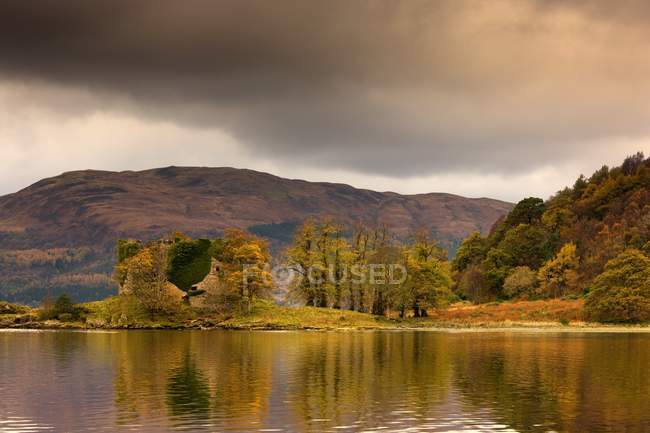 Shoreline With Fall Colors — Stock Photo