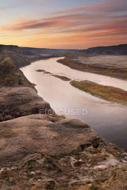 Red Deer River Before Sunrise — Stock Photo
