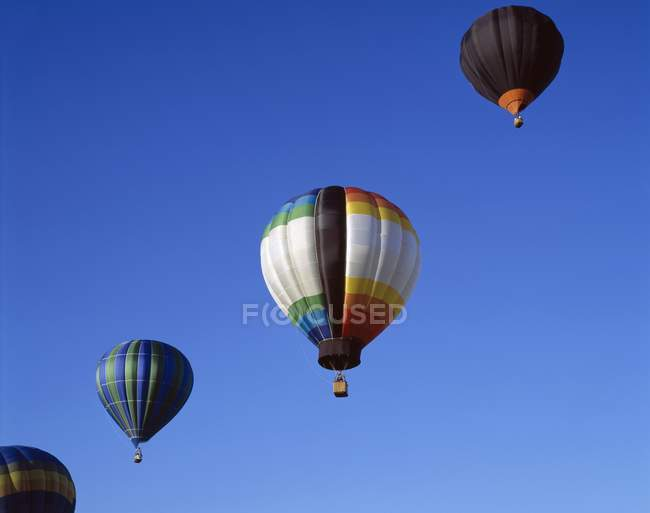 Hot-Air Balloons In Flight — Stock Photo