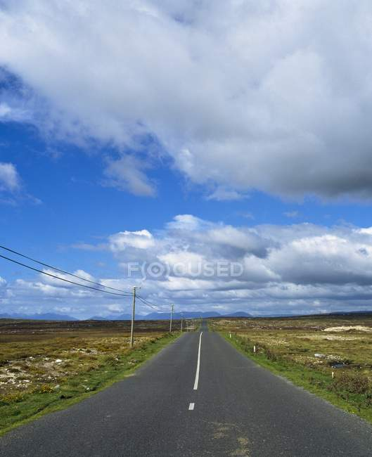 Road Running Through A Bare Landscape — Stock Photo