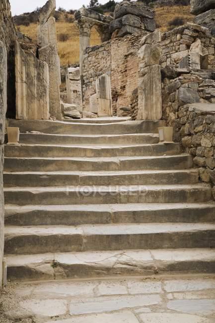 Структура поселений на древние руины. Эфес, Турция — стоковое фото