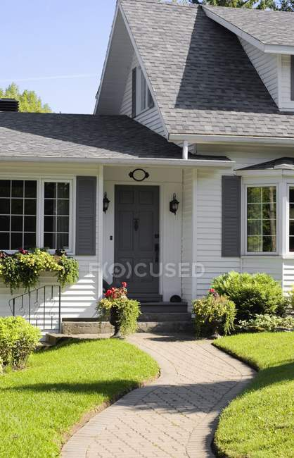 Cottage House outdoors — Stock Photo