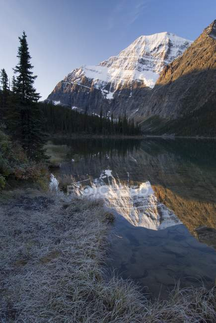 Cavell Lake, Mount Edith Cavell — Stock Photo