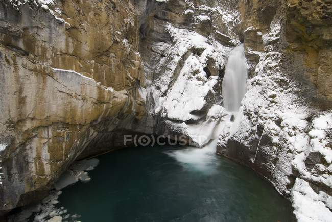 Waterfall, Johnston Canyon — Stock Photo