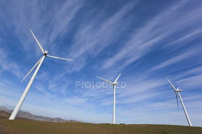 Windmills Producing Renewable Electric Energy — Stock Photo